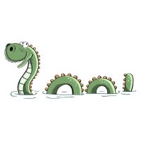 Lustiges Seeungeheuer - Monster - Nessie - Comic