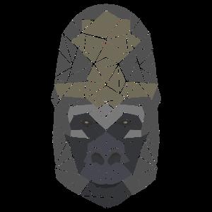 Gorilla - Polygon Motiv - Geometrisch - Geschenk
