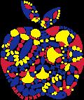 Motif Pomme mosaïque