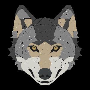 Wolf - Polygon Motiv - Geometrisch - Geschenk