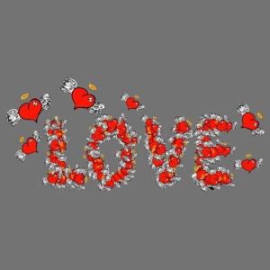 Fliegende Herzen LOVE