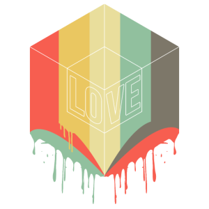 Love Cube with beautiful colors