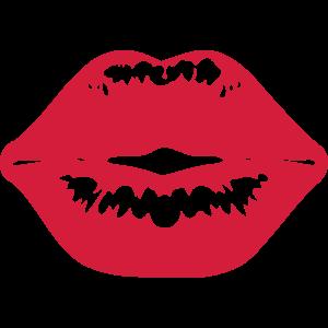 roter Kuss Kussmund Lippenstift Kiss