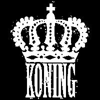 König mit Krone - Weiß