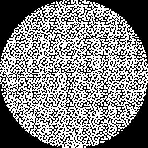 Weiß gepunkteter Kreis