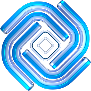 Blau Metall Abstrakt