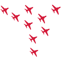 Red Arrows Eagle-Formation