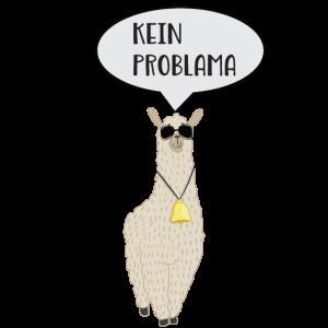 No Problama Lama Llama Cooles Tier Geschenk Shirt