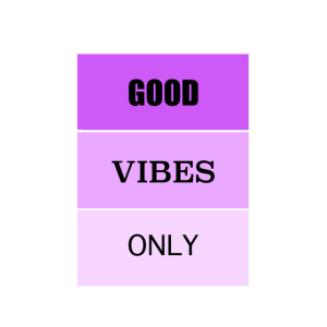 Good Vibes Only 2 violett