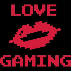 Love Gaming 8-Bit Retro Kuss Mund
