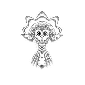 owl dotwork