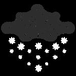 nuage noir et flocons blanc vacances d'hiver
