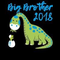 Dino Baby Big Brother 2018 Bruder T-Shirt