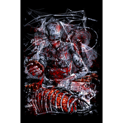 MAD DOC - Horror-Illustration eines Zombie Doc - Zombie,Undea,Illustration,Horror,Herz,Doc,Blut