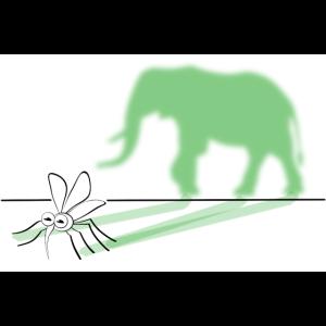 Aus einer Mücke einen Elefanten machen Zeichnung