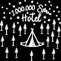 Eine Millionen Sterne Hotel / Camping Zelt Himmel