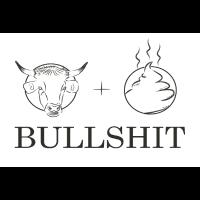 Bullshit Strichzeichnung Poster