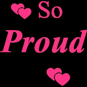 So stolz