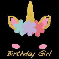 Einhorn Birthday Girl: Unicorn Birthday Girl