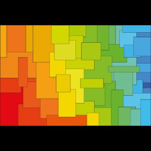 Mehrfarbige Quadrate