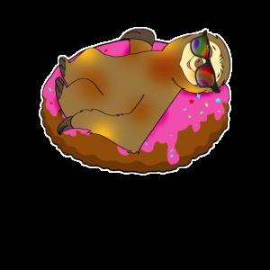 Faultier auf Donut coole Luftmatraze kawaii Sommer