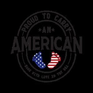 Stolz einen Amerikaner zu tragen USA Shirt lustig