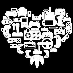 Games Kontroller Herz Liebe