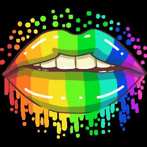 LGBT Schwul Lesbisch Homosexuell Regenbogen Lippen