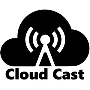 Cloud Cast Black mit Schriftzuga