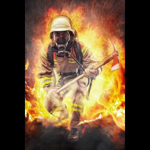 Feuerwehr - Helden die durchs Feuer gehen Poster