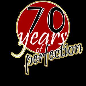 70 Jahre - 70 Geburtstag Geschenk t-Shirt