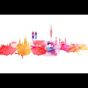 München in Wasserfarben