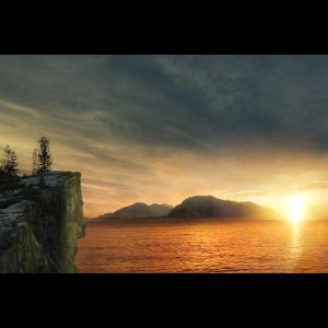 Sonnenuntergang am See.sunset