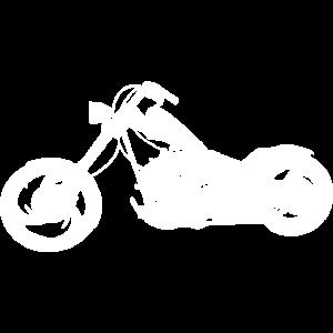 Silhouette Chopper Motorrad weiß