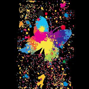 Schmetterlings-Spritzen - Plakat