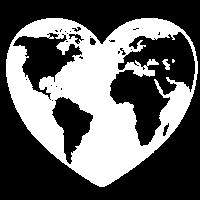 Herz Weltkugel Planet Erde Naturfreunde Liebe Welt