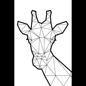 plakat 2 3 lowp giraffe kontur 001