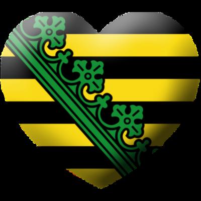 love_sachsen - I Love Sachsen, Ein Herz für Sachsen - love,herz,Wappen,Sachsen,Leipzig,I love,Flagge,Dresden,Chemnitz