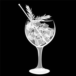 Großer Gin Tonic mit Rosmarin als Garnitur