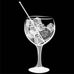Großes Gin Tonic Glas mit Gurke - Sommerdrink