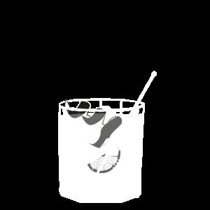 Kleines Glas Gin Tonic - Sommerdrink - Transparent
