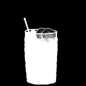 Leckerer Gin Tonic im Glas mit Gurke - transparent
