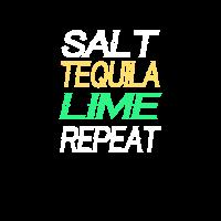 Salz Tequila-Kalk wiederholen Cinco De Mayo-Feier