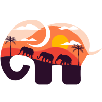 Elefant Savanne Sonnenuntergang