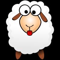 Schaf Määähndy mit Zunge