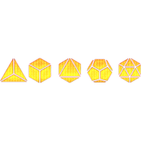 Platonische Körper Mathe Geometrie Zeichen Formen