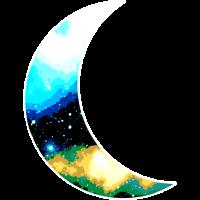 Mond Mondsichel Galaxy