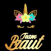 Team Braut Gold Einhorn Junggesellinnen JGA