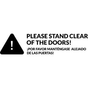 Please stand clear... monorail (dark)