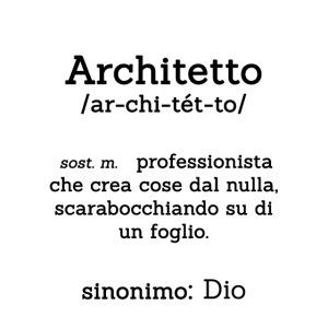 Architetto definizione - Sinonimo Dio - nero